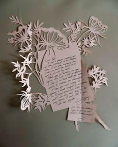 paper cut letter