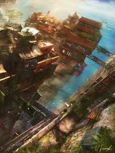 ArtStation - On Top of the City, Victor Lammert - Somewhere in the Commonwealth or ISU.