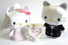Paper Model - Hello Kitty Happy Wedding Papercraft