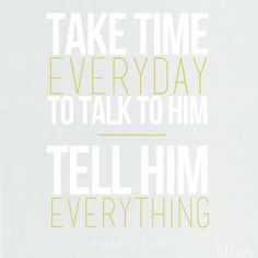 Talk to God.