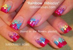 Robin Moses Nail Art: cutest rainbow nail art, cutest rainbow ...