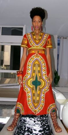 Dashiki Empire Waist Dress
