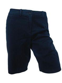 Tommy Hilfiger Womens Walking Shorts Bermuda Long Cotton Blend Golf Twill Chino  #TommyHilfiger #KhakiChino