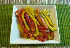 Kolorowe paseczki papryki z grilla