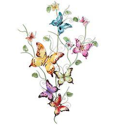 Iron Butterfly wall sculpture