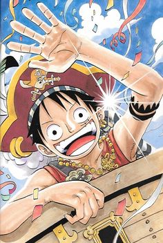 Browse ONE PIECE Luffy collected by Nana Lee and make your own Anime album. One Piece Anime, One Piece Fr, One Piece World, One Piece Luffy, Manga Anime, Fanart Manga, The Pirates, Hokusai, The Pirate King