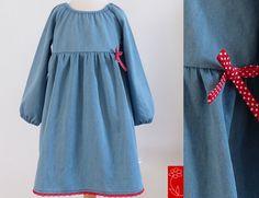 """Festkleid """"Lieselotte"""" - Jeans, langarm von  katharina-meintke-kids - Lieblingssachen für Kinder auf DaWanda.com"""