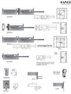 Rein-Stainless steel glass door lock manufacturer[GL003A,B,C,D,L,H-2A,B] Glass Door Lock, Lock Set, Door Hinges, Door Locks, Shower Doors, Floor Plans, Hardware, Stainless Steel, Gate Locks