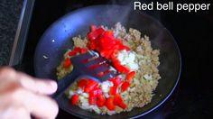 Pork Red Bell Pepper Onion Stir-Fry : Thai Food Part 70 : Thai Food Recipe
