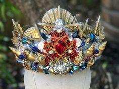 Mermaid Crown, Shell Crown, Seashell Crown, Mermaid Headpiece, Crowns and Tiaras, Custom Crown