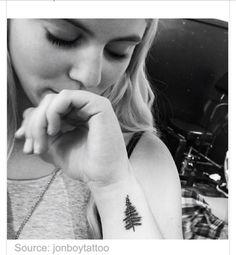 ideas for pine tree tattoo wrist tatoo Pine Tattoo, Pine Tree Tattoo, Arm Tattoo, Sleeve Tattoos, Deer Tattoo, Raven Tattoo, Trendy Tattoos, New Tattoos, Tatoos