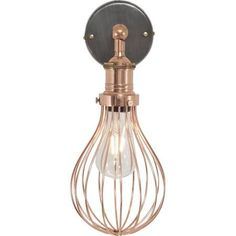 black and copper wall light - Google Search