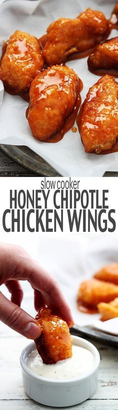 Slow Cooker Honey Chipotle Chicken Wings | Medi Sumo