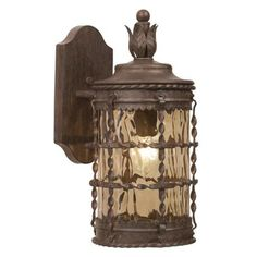 "Mallorca Collection 16"" High Vintage Rust Outdoor Wall Light -"
