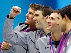 conor dwyer, micheal phelps, ryan lochte, ricky berens.