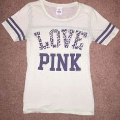 Pink by Victoria secret! Pink by Victoria secret, Size medium. Has a tiny spot, I think it can come off with some shout. I will price it low bc of this. It's been sitting in a bag with the clothes that I don't fit. Sorry it's wrinkled. PINK Victoria's Secret Tops Tees - Short Sleeve