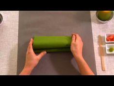 Napkin folding from Duni - Wave - YouTube