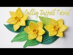 QUILLING DAFFODIL FLOWER TUTORIAL | quilling flor de narciso tutorial - YouTube