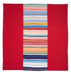 "Line quilt, 96"" x 106"", by Gerri Spilka.  100% cotton, 2013"