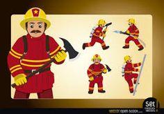 Resultado de imagen de imagenes bomberos animados