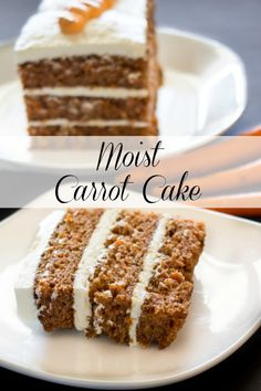 Moist Carrot Cake with a rich cream cheese frosting. The post Moist Carrot Cake with a rich cream cheese frosting. appeared first on Orchid Dessert. Easy Carrot Cake, Moist Carrot Cakes, Carrot Bread Recipe Moist, Carrot Cake Frosting, Carrot Cake Recipe Without Nuts, Carrot Cake With Applesauce Recipe, Carrot Pineapple Cake, Pineapple Frosting, Carrot Cake Cheesecake