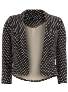 Black mini spot print jacket