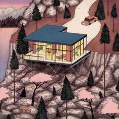 "josephinritschel:  album art work for ""Man Behind Tree"" called ""Snoqualmie""listen to their new album > http://www.manbehindtree.com/"