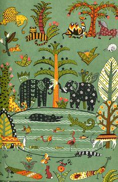 "Dahlov Ipcar «Calico Jungle»   ""Картинки и разговоры"""