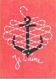 french, anchor, and a rope