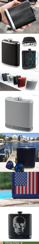 Looks like a flask, works like a speaker. #fathersday