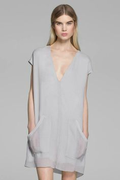 dove grey dolman dress