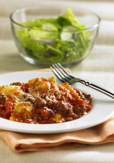 This Beefy Skillet Ravioli recipe is sure to become a weeknight dinner favorite in your home. It's easy to make and delicious!