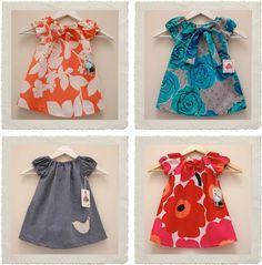 Con un patrón muy sencillo, 4 vestidos diferentes by stylecollective.