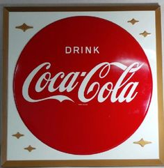 Vintage Coca Cola Embossed Tin Sign dated 1957