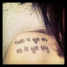 Spanish Lyric Tattoo