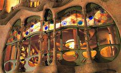 Magníficas cristaleras de la Casa Batlló