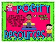 Poetry Resources -- packet of free printables for a reading or writing unit; graphic organizers, spinner for small group critical thinking, mini-bulletin board set