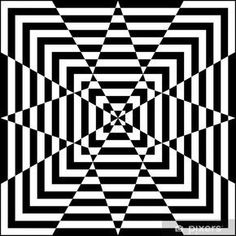 Motif géométrique noir et blanc Wall Mural Pixers We live to change Optical Illusions Drawings, Optical Illusion Quilts, Illusion Drawings, Art Drawings, Flower Drawings, Illusions Mind, Geometric Drawing, Geometric Art, Pixel Art