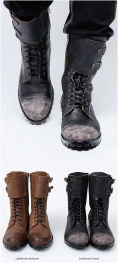 size 40 e273f fe384 Military Vintage Biker Boots - 20