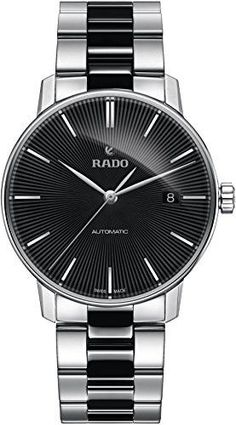 be064b6ebc4 Rado Coupole Classic Automatic Black Dial Stainless Steel Black Ceramic  Men's Watch R22860152
