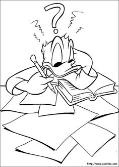 Donald Duck Coloring Pages For Kids 21