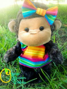 Emma the rainbow baby monkey