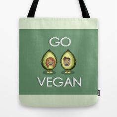 Go Vegan Avocado Tote Bag by biancahaun Vegan Breakfast Recipes, Vegan Recipes, Bread Recipes, Raw Vegan, Vegan Food, Healthy Food, Tofu Scramble, Sugar Free Desserts, Going Vegan
