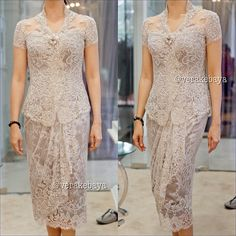 ideas for dress brokat modern indonesia Vera Kebaya, Kebaya Dress, Batik Kebaya, Dress Pesta, Batik Dress, Kebaya Hijab, Dress Brokat Modern, Modern Kebaya, Model Kebaya Brokat Modern