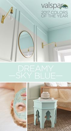 """""""Soothing, restful and restorative, this light and airy blue is instantly calming."""" Sue Kim, Valspar Color Strategist. One of 12 Valspar 2017 Colors of the Year: Snow in June at Ace and Independent Retailers.   https://www.askval.com/ColorsOfTheYearLanding/Dreamy-Sky-Blue"""