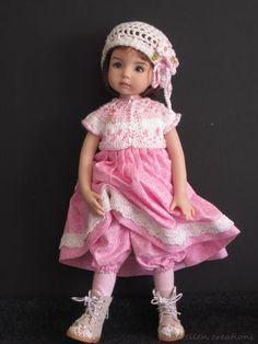 "Pink White 5 PC Set OOAK Handmade for 13"" Effner Little Darling BJD by JEC   eBay"