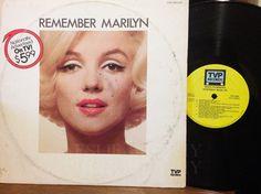 "Marilyn Monroe Remember Marilyn"" LP Record Vinyl TVP Records #VocalJazz"