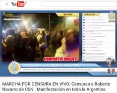 Piedra OnLine: Censuraron a Roberto Navarro en C5N