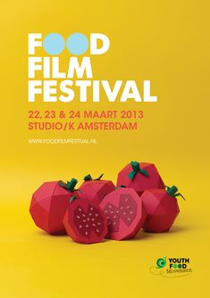 Food Film Festival 2013. Come and join us in Amsterdam on March 22, 23 en 24!!