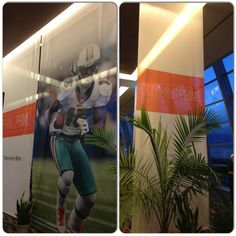 Dye Sub Banners in the Dolphin Prime area at the Sun Life Stadium Sun Life Stadium, Dolphins, Banners, Selfie, Sports, Excercise, Banner, Posters, Sport